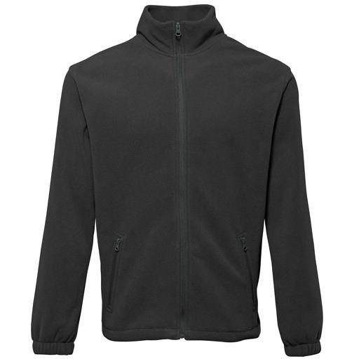 Full zip fleece vest met rits zwart