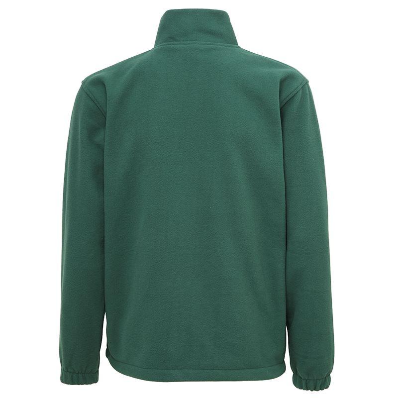 Full zip fleece vest met rits achterzijde