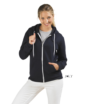 Sols Silver Unisex Zip Hooded Silver 1