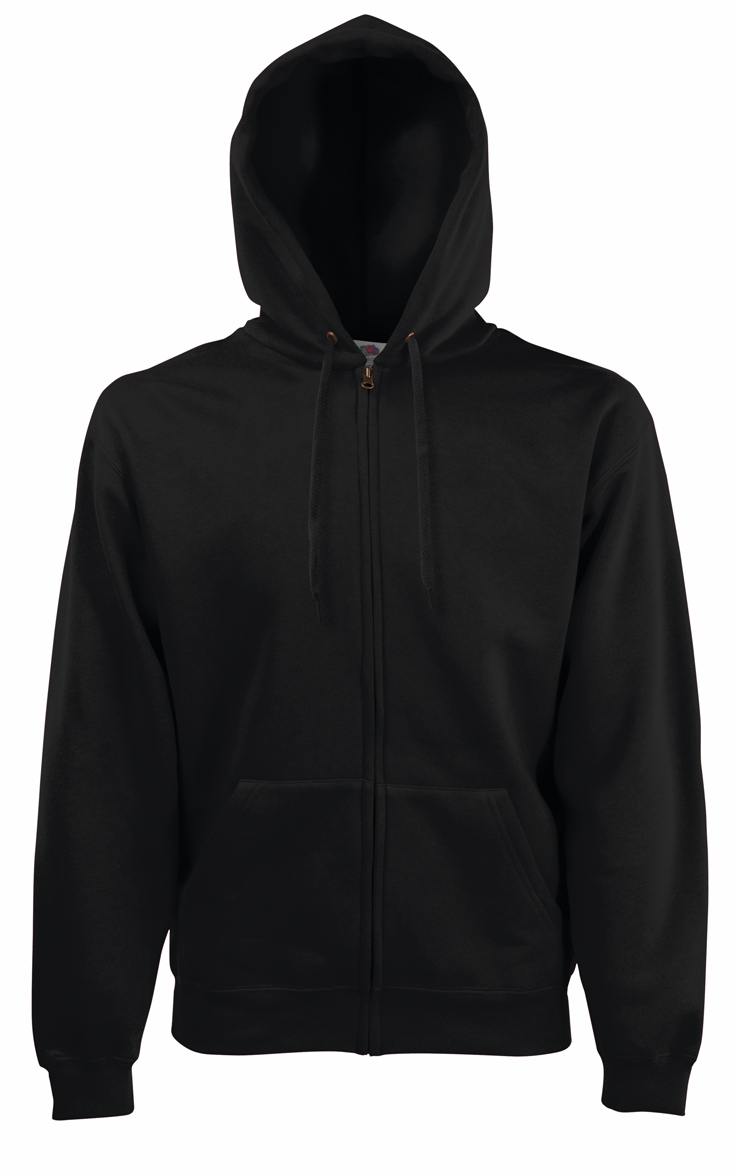 Fruit of the Loom Hooded Jacket 620620 Black