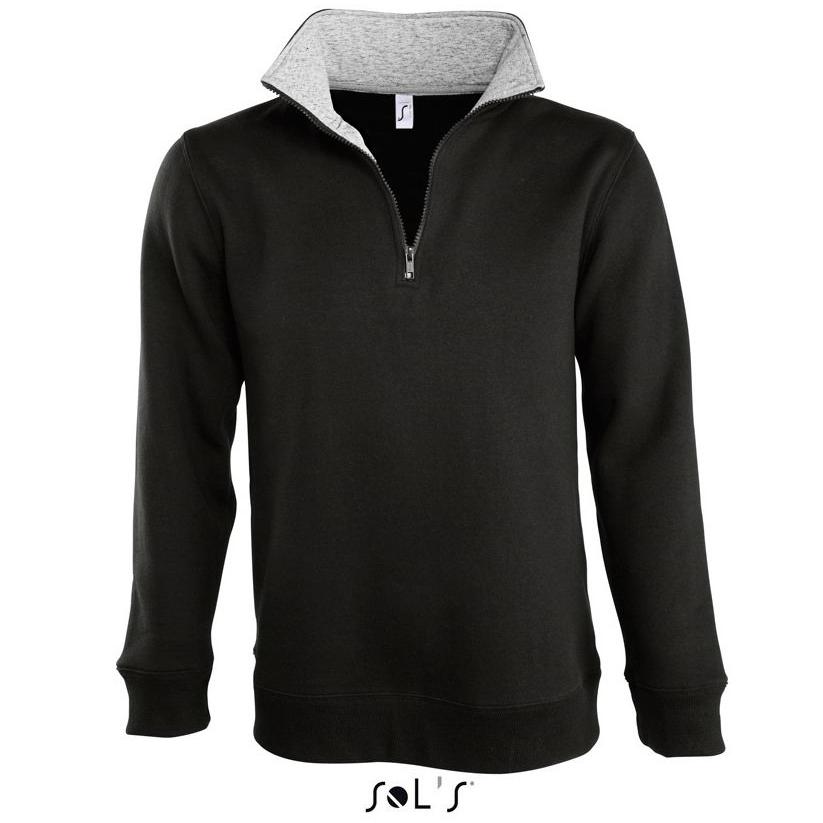 Sols Scott Unisex Sweatshirt black