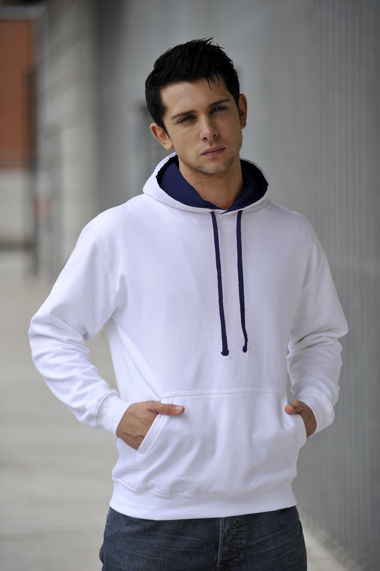 AWDis JH003 Varsity hoodie Artic White