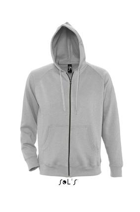 Sols Story Zip Hooded sweater Grey Melange