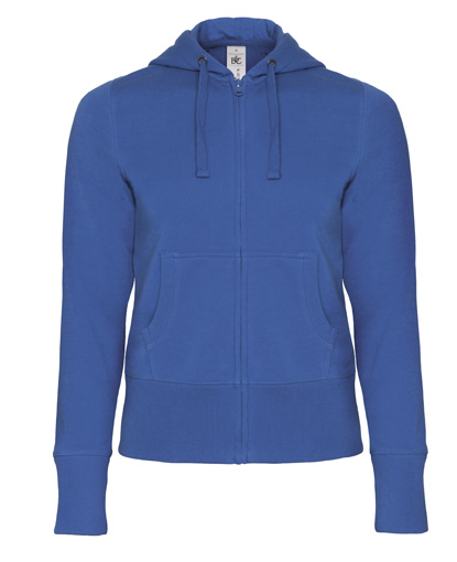 B-C Hooded Full Zip Women Royal Blue