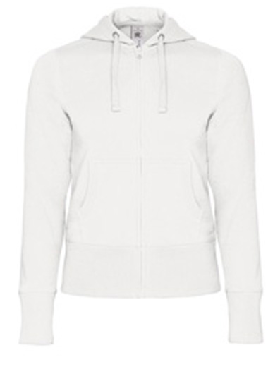 B-C Hooded Full Zip Women White