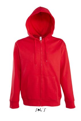 Sols Seven Men Zip Hoodie Red