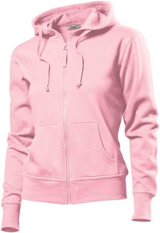 Hanes Spicy dames hoodie 6510 Light Pink