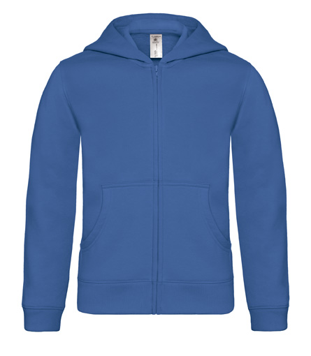 B-C Hooded Full Zip Kids Royal Blue