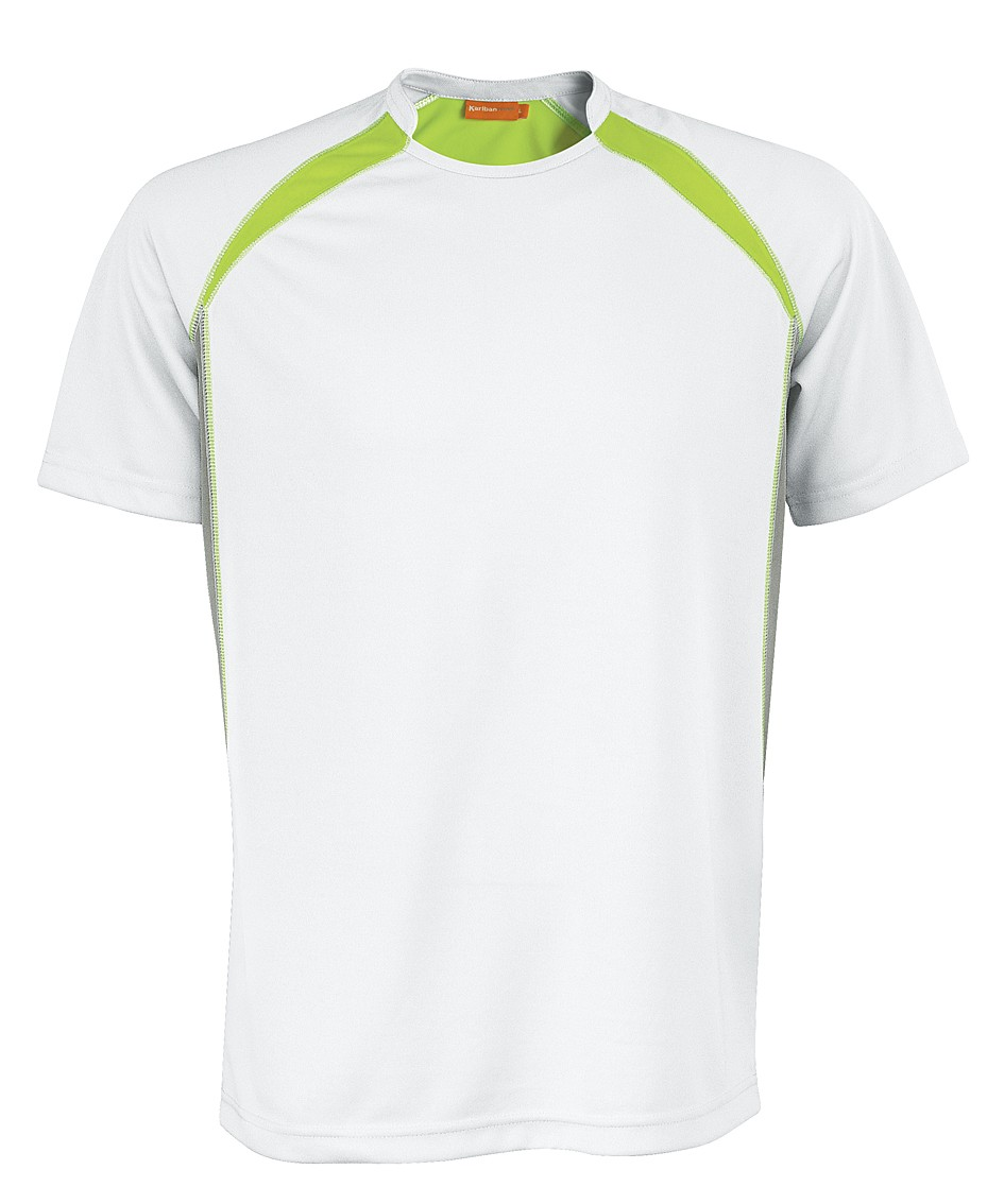 Kariban Sportshirt Breathing KS01 White - Lime