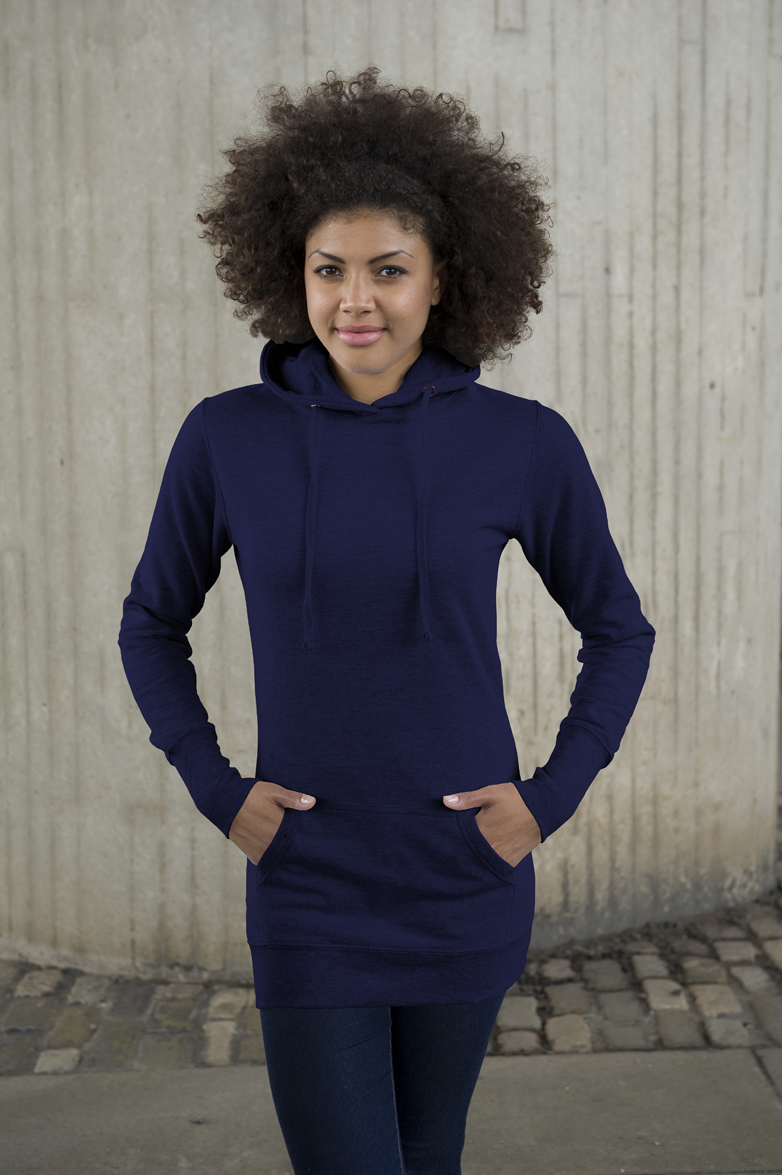AWDis Girlie Longline Hoodie New French Navy