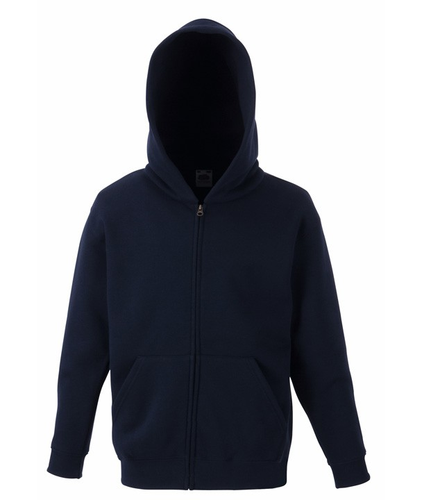 Fruit of the Loom Kids Zip Hoodie Sweater Deep Navy