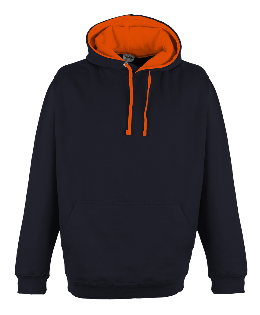 JH013 Oxford Navy - Electric Orange
