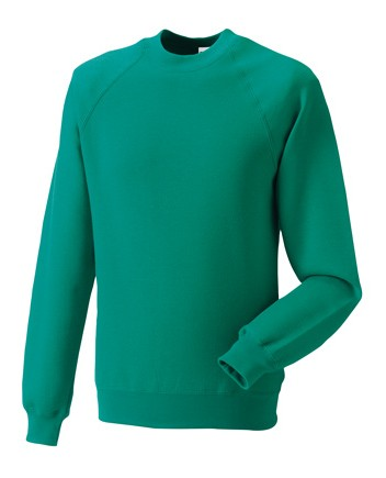 Russell Raglan Sleeve Sweater RU7620M Winter Emerald