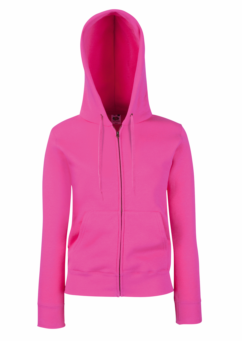 Fruit of the Loom Lady Fit Hooded Jacket 621180 Fuchsia