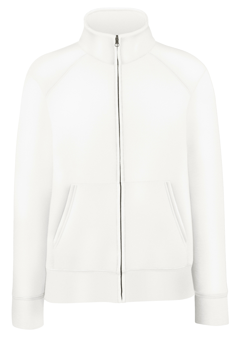 Fruit of the Loom Lady-Fit Sweat Jacket 621160 White
