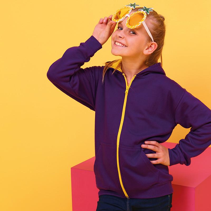 AWDis Hoods Kids varsity zoodie hoodie
