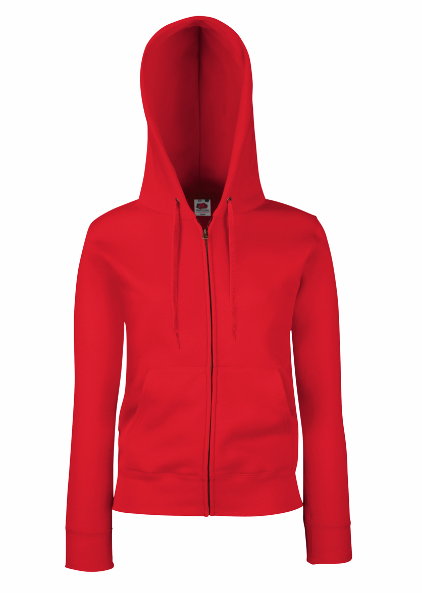 Fruit of the Loom Lady Fit Hooded Jacket 621180 Red
