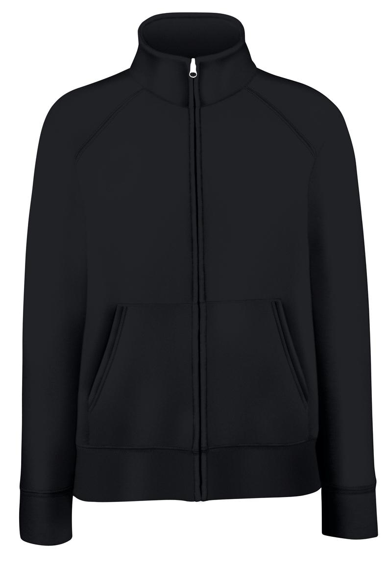 Fruit of the Loom Lady-Fit Sweat Jacket 621160 Black