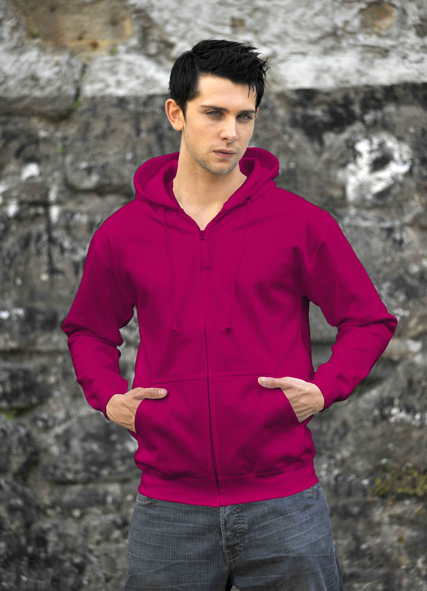 AWDis Zoodie JH050 hoodie Hot Pink