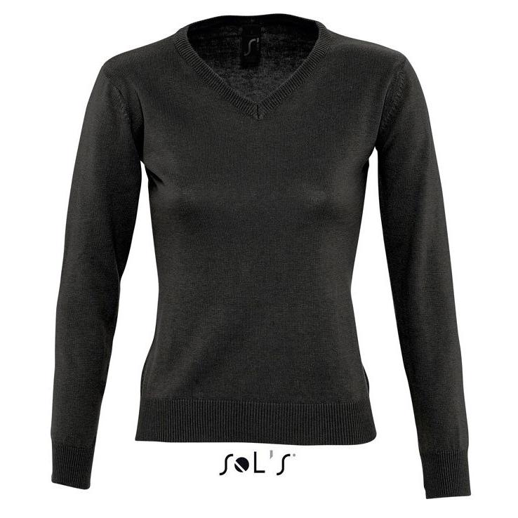 Sols Galaxy Woman V-hals Nette Sweater black