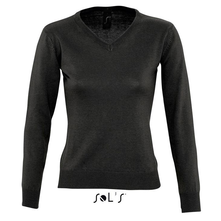 Sols Galaxy Woman V-hals Nette Sweater black