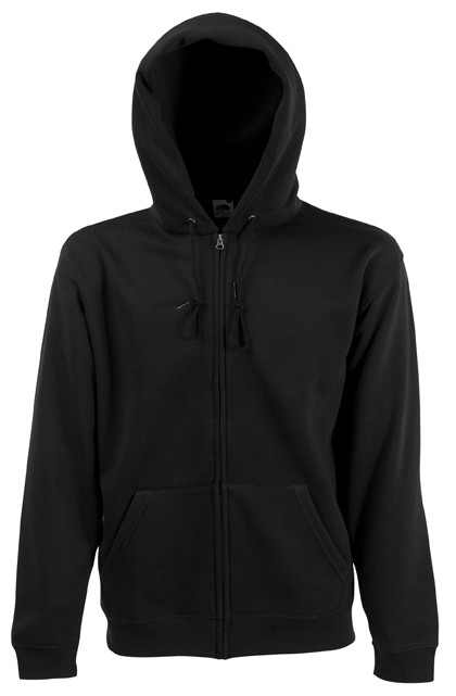 Fruit of the Loom Zip hoodie sweatshirt SC361C Black