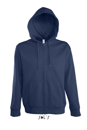 Sols Seven Men Zip Hoodie French Navy
