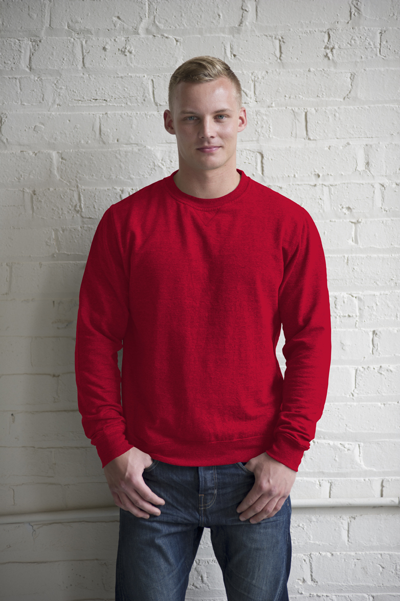 AWDis Heather Sweater JH040 Red Heather