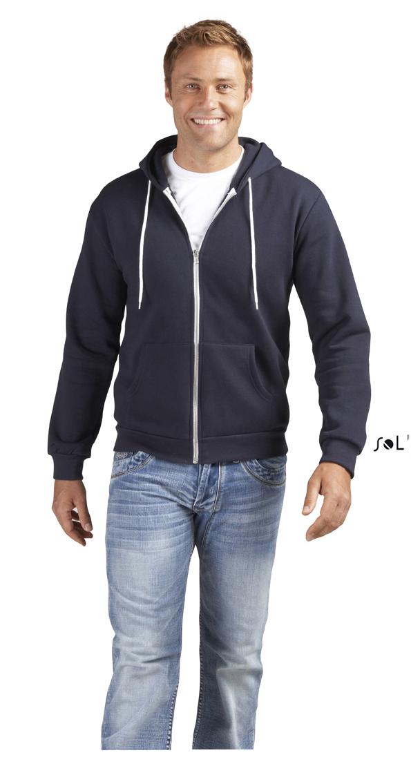 Sols Silver Unisex Zip Hoodie Sweater met rits