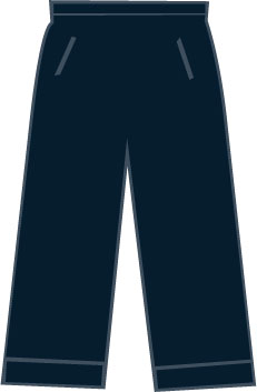SP102 Heren Kuitbroek Dark Navy