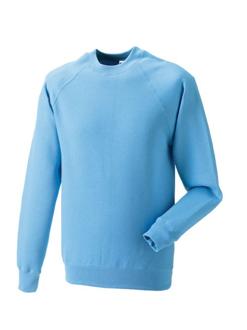 Russell Raglan Sleeve Sweater RU7620M Sky Blue