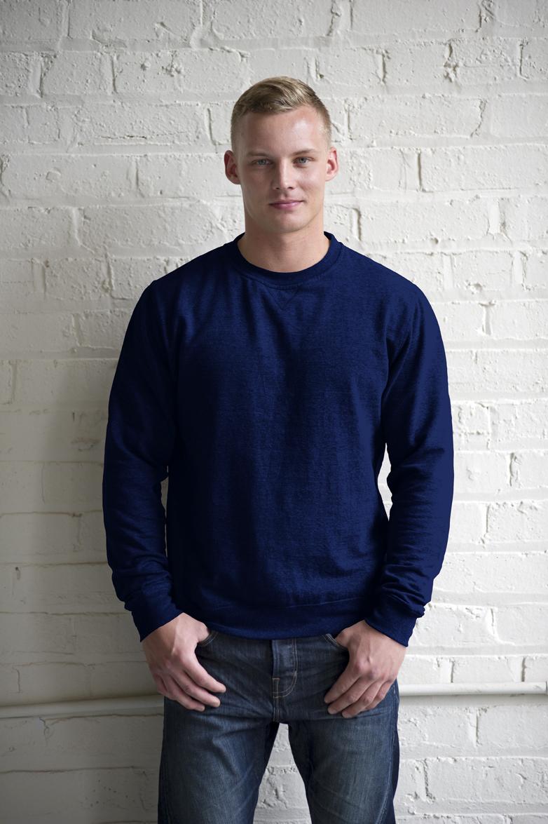 AWDis Heather Sweater JH040 Royal Blue Heather