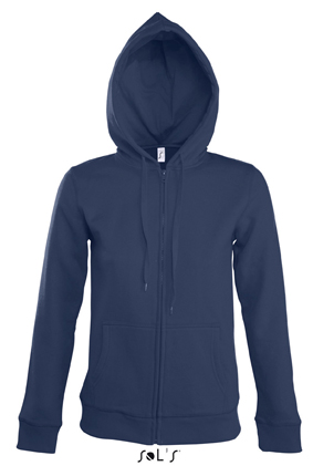 Sols Seven Women Zipped dames hoodie French Navy