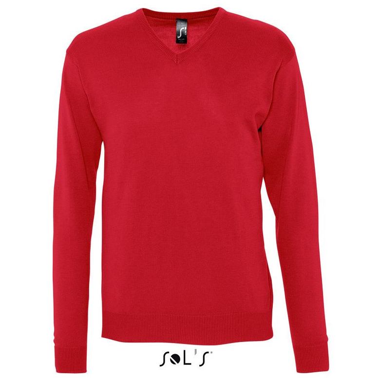 Sols Galaxy Men V-hals Sweater red