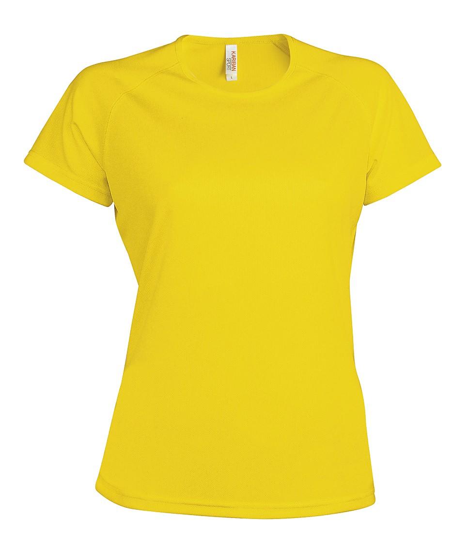 Heren Sport T-shirt KS030 True Yellow