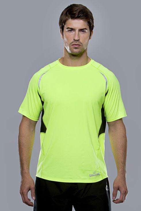 Spalding Endurance heren T-shirt geel