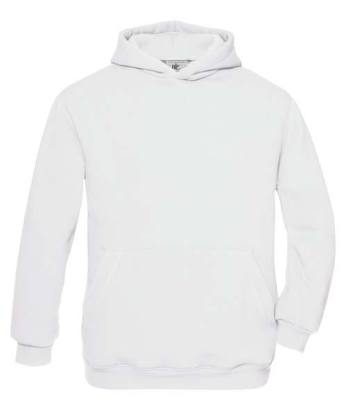 B-C Hooded Kids Sweat White