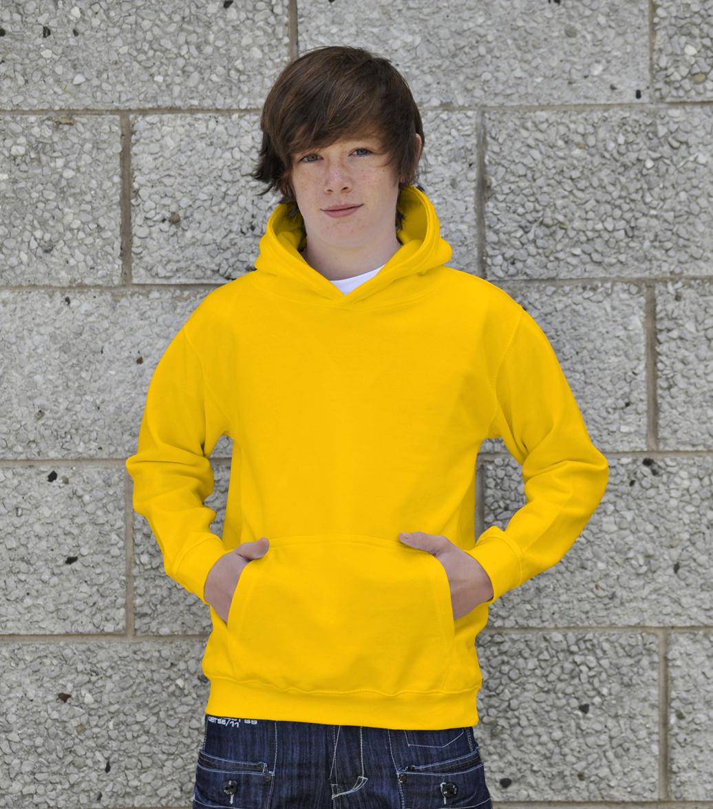 AWDis Kids College Hoodie JH01J Sun Yellow