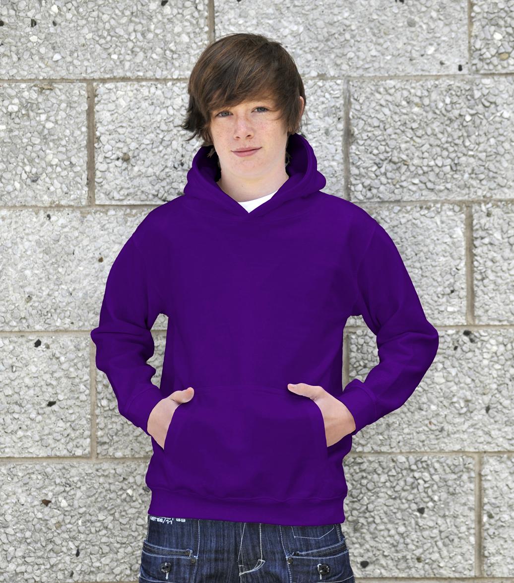 AWDis Kids College Hoodie JH01J Purple