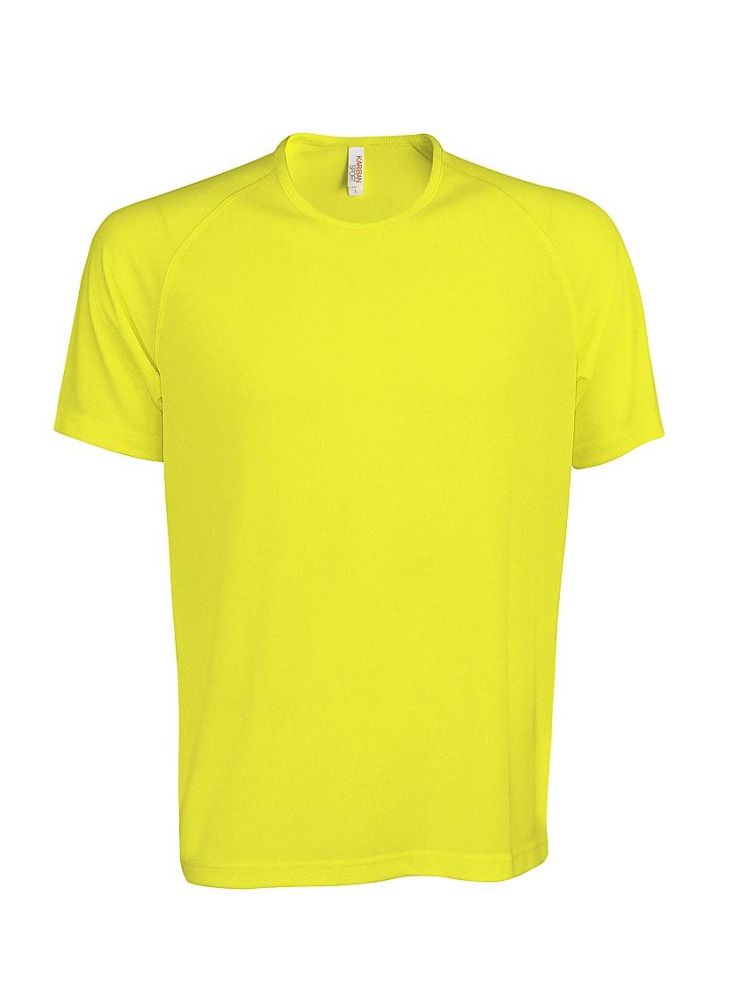 Heren Sport T-shirt KS017 Fluor Yellow