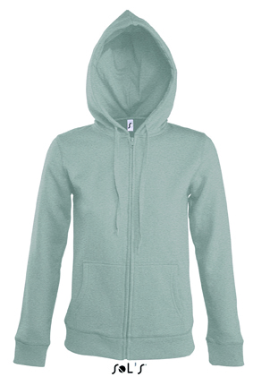Sols Seven Women Zipped dames hoodie Grey Melange