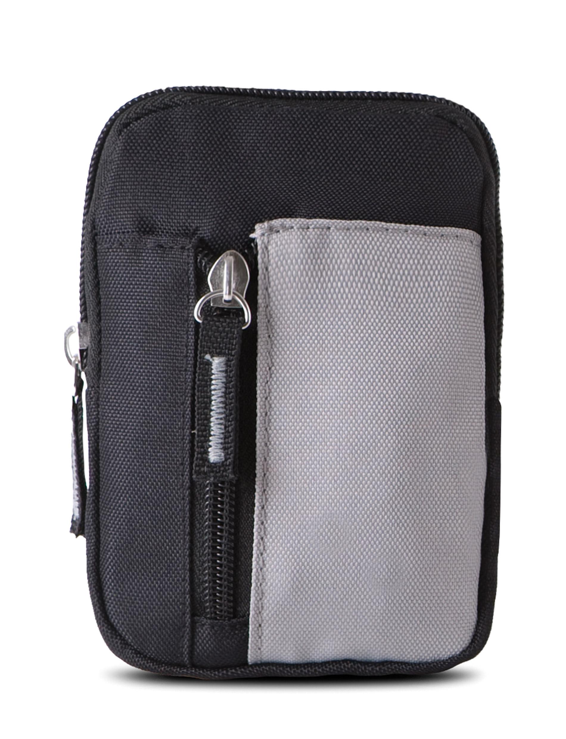 portemonnee ki0502 zwart/licht grijs