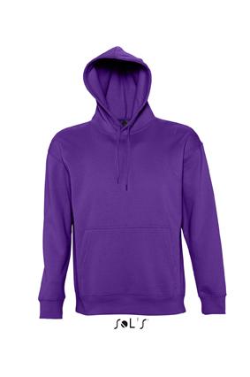 Sols Slam Unisex Hooded Sweater Dark Purple