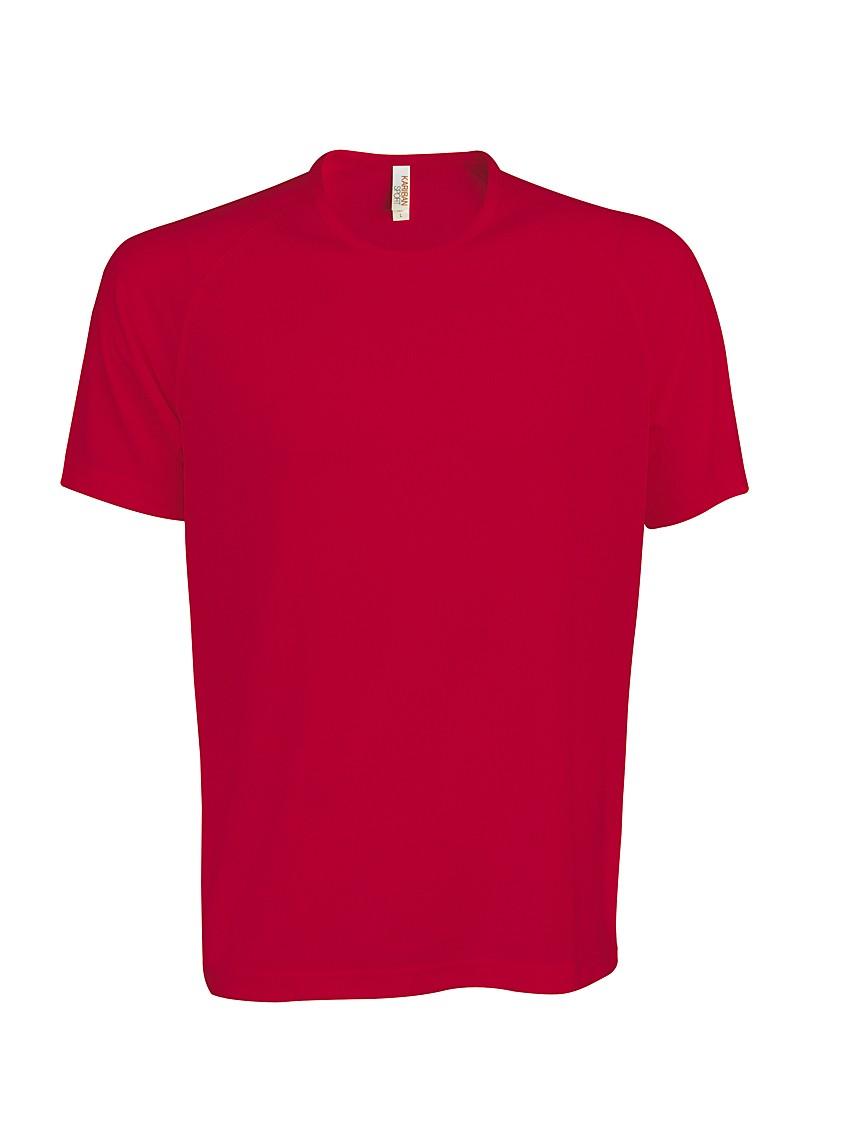 Heren Sport T-shirt KS017 Red