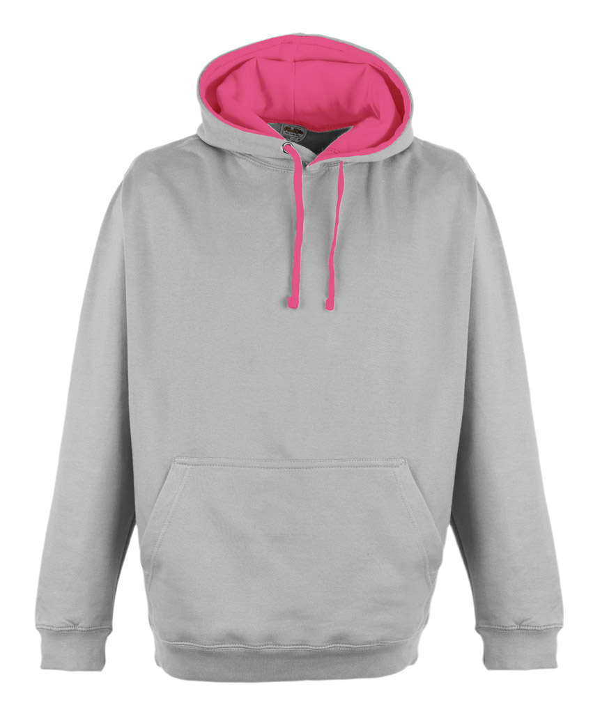 JH013 Heather Grey - Electric Pink