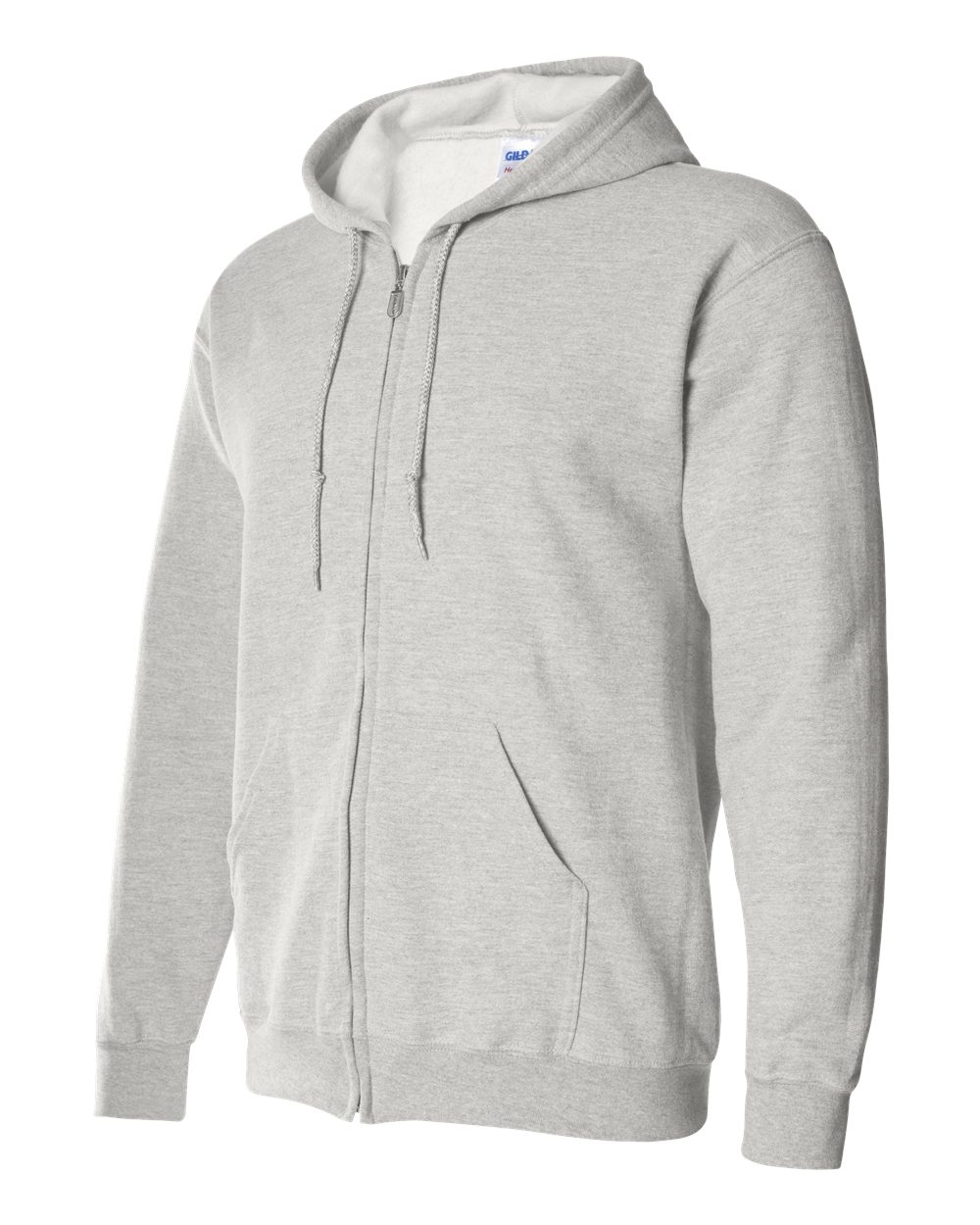 Gildan Heavy Blend Full Zip Hoodie Sweater GIL18600 Ash