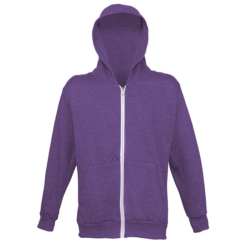 AWDis Hoods Kids heather zoodie Purple Heather