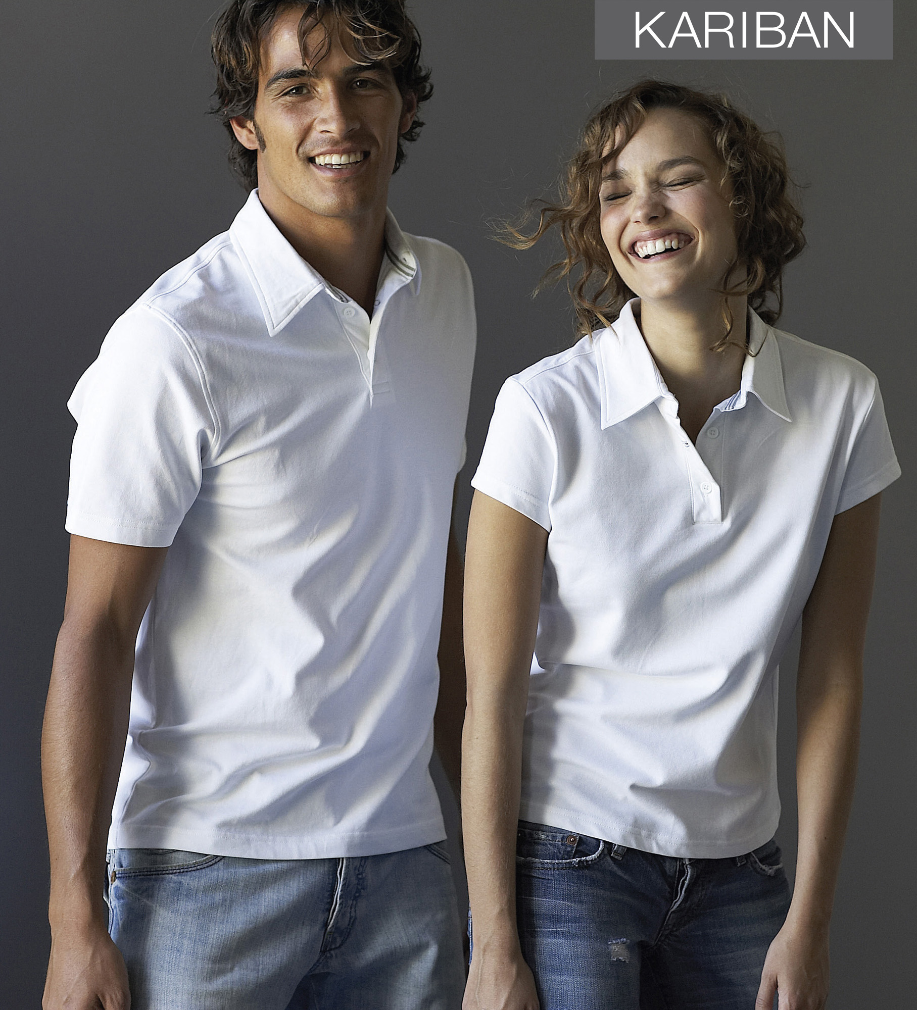 Mannenpolo en damespolo met korte mouwen met hemd kraag