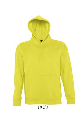 Sols Slam Unisex Hooded Sweater Lemon