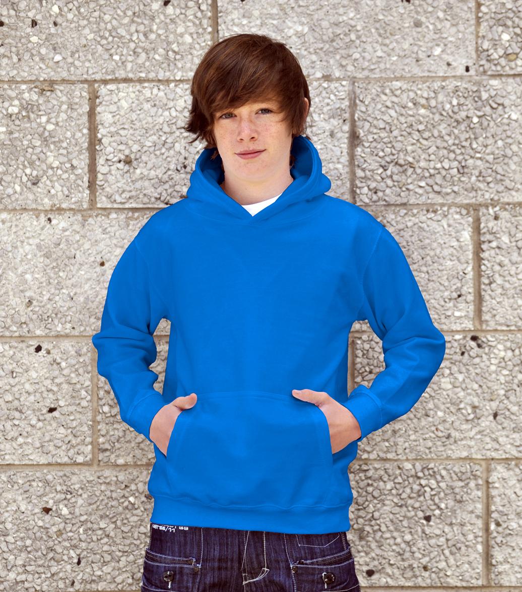 AWDis Kids College Hoodie JH01J Sapphire Blue